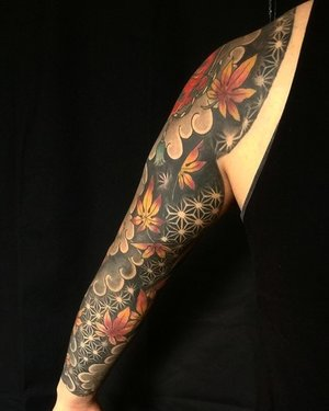 octopus and koi fish tattoo