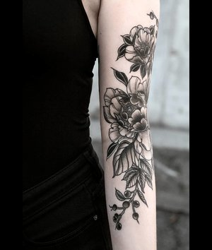flower bale tattoo