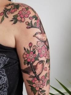 bird+and+flower