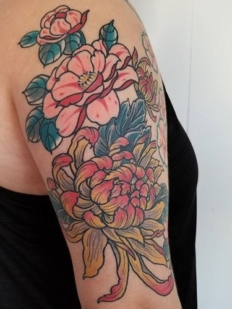 flower+tattoo