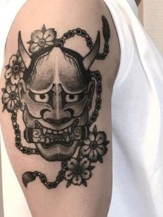 kelowna-customtattoo-tattoo-lakecountry-vernon-tattooedgirl-japanesetattoo-hannyamask-hiromi.tattoo-blackwork